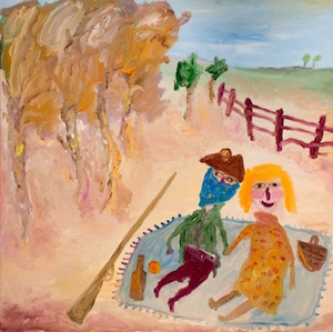 Edwards John Picnic at Hanging Rock oil on canvas