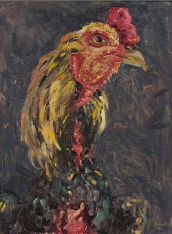 CULLITON - Cock oil on board tamworth Regional Art Gallery 2017