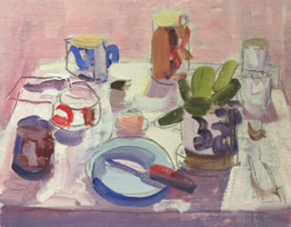 Bokor John Still Life oil on board 2016 Wollongong Art Gallery
