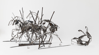 Fasher Harrie The Last Charge, Steel Sculpture