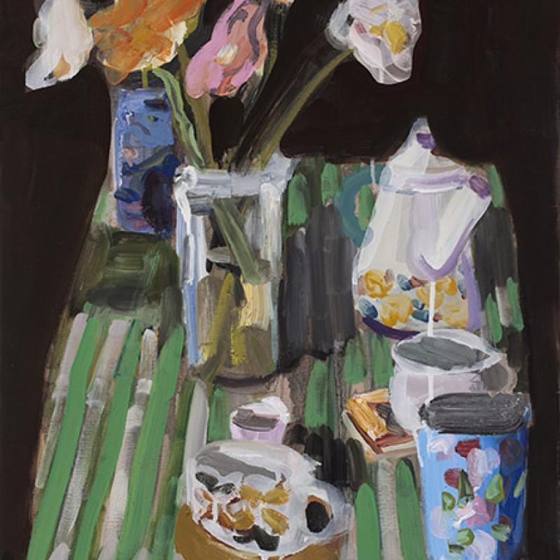 Vase of Poppies