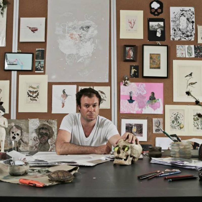 at his Hong Kong Studio