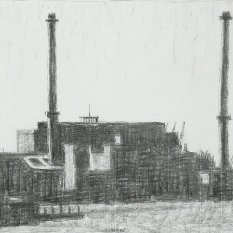 Study for Harbour Chimneys, Rotterdam