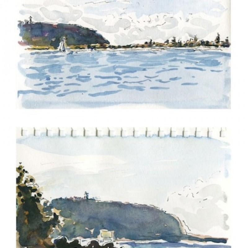 Barrenjoey, from Currawong [diptych]