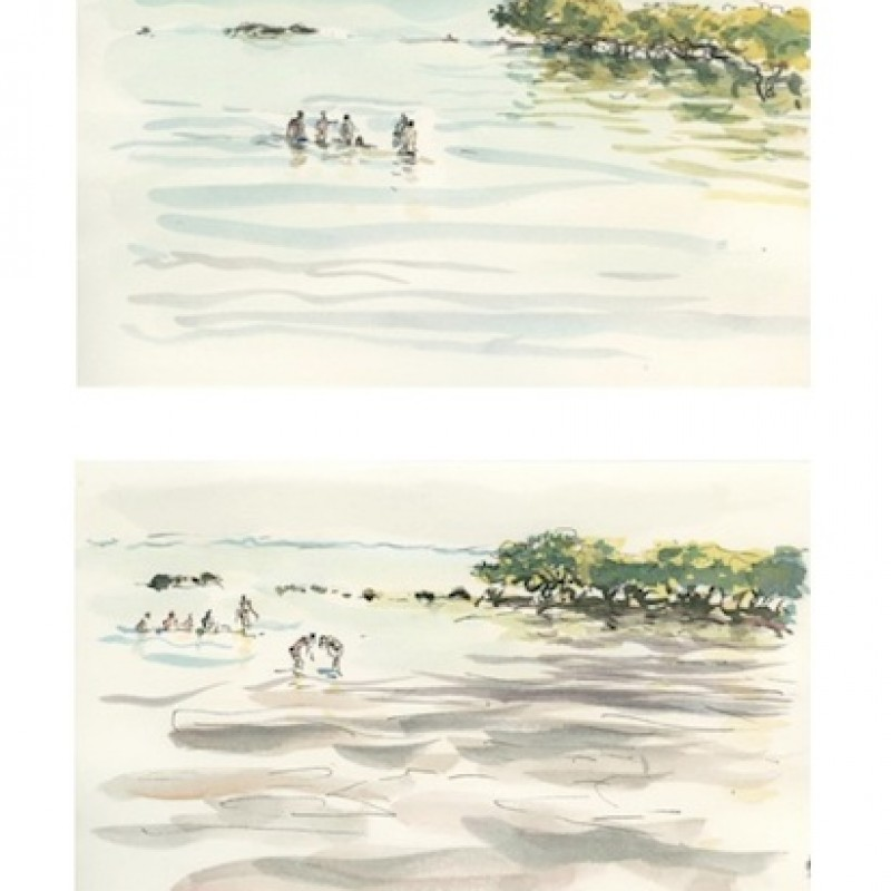 Bathers, Town Beach [diptych]