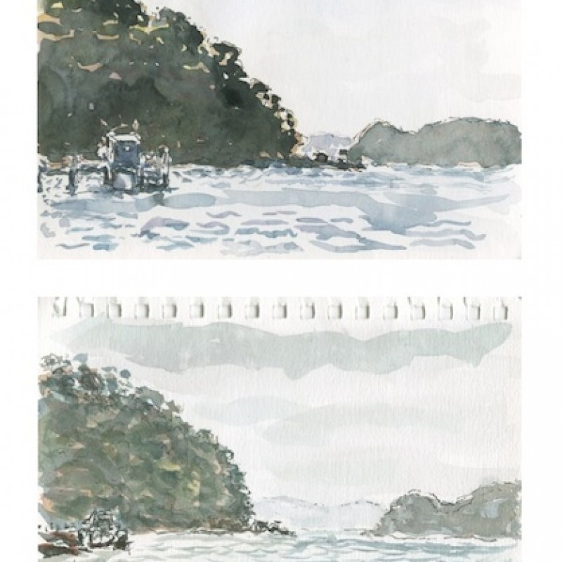 Currarong Wharf [diptych]