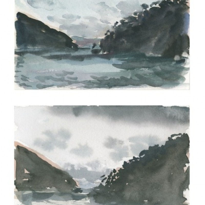 Nocturne, Sealers Cove [diptych]