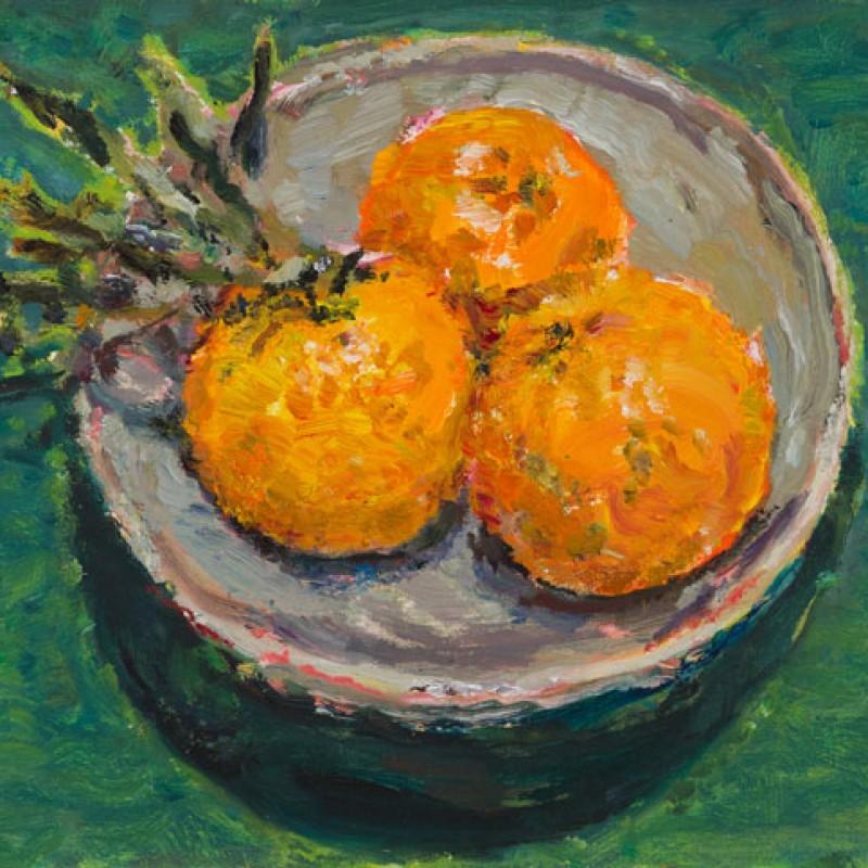 Mandarins on Matilda's plate