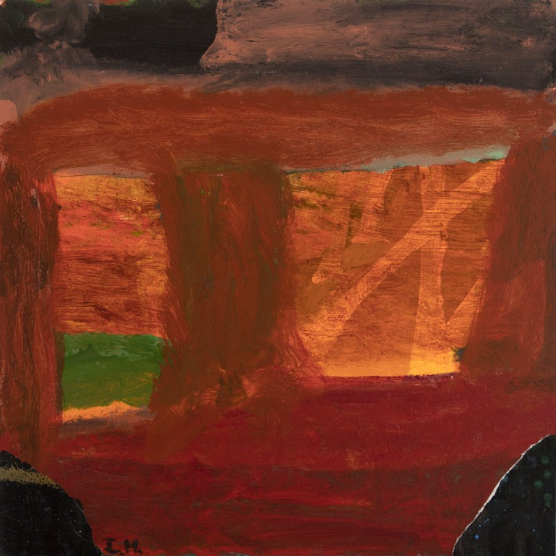 The dam, homage to Howard Hodgkins