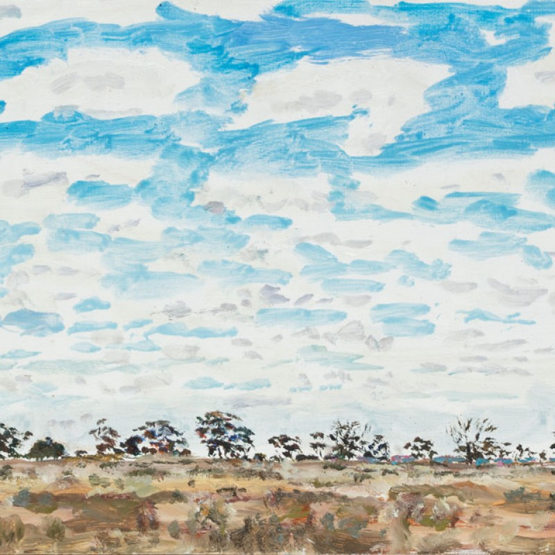 Broken clouds, Mallee Highway