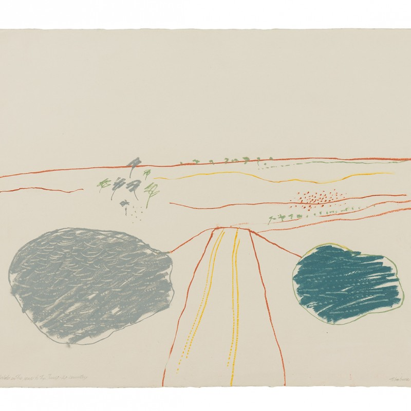 Tibooburra drawing [Waterholes on the road to the Jump-up country]