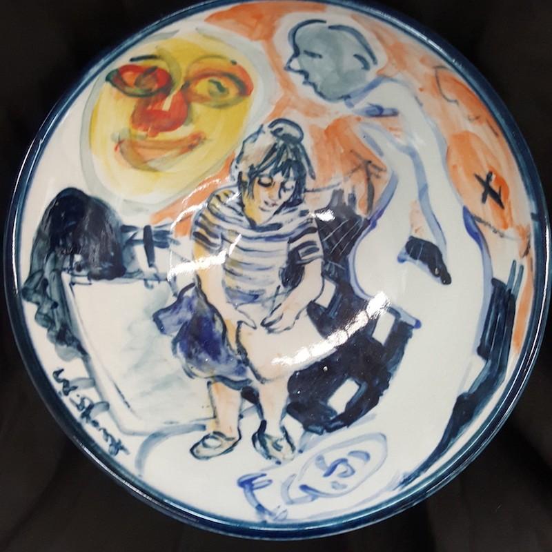 Self Portrait Drawing Bowl