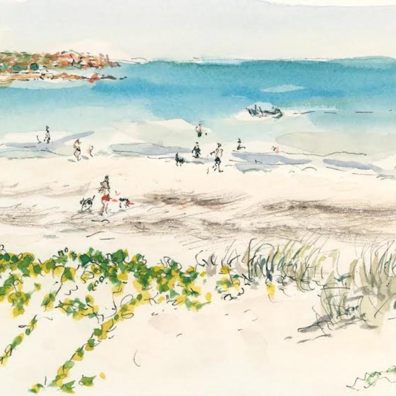 Beach near Gautheaume Point