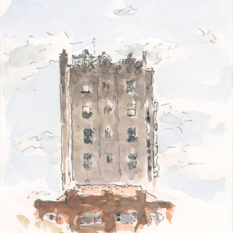 Adereham Hall, broken cloud