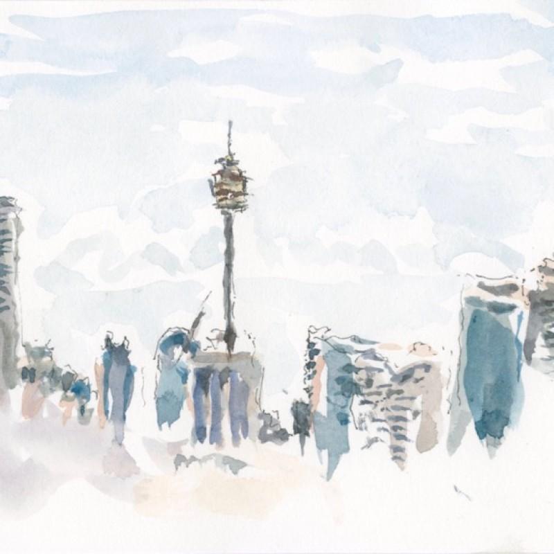 City skyline, broken cloud