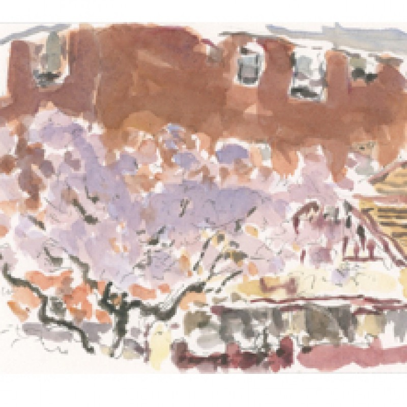 Jacarandas Kensington (triptych)