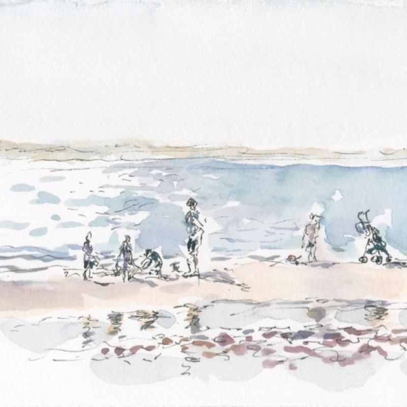 Pram on the beach, Currarong