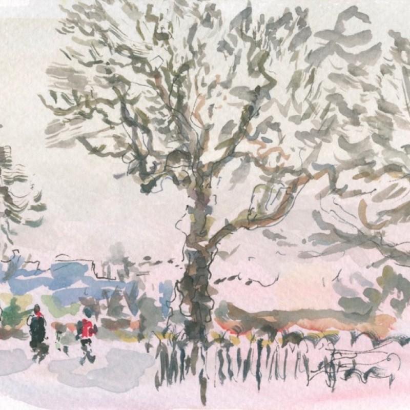 Winter dusk, Clissold Park