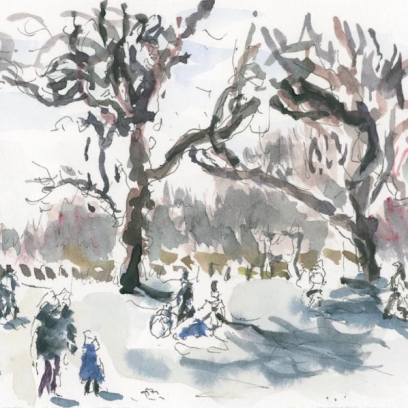 Winter sunlight, Clissold Park