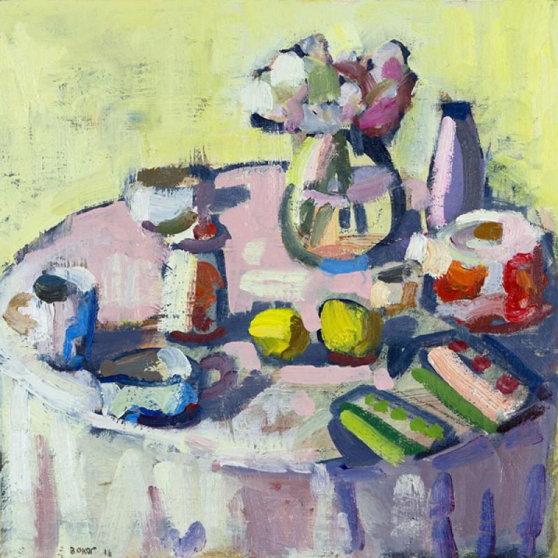 Bouquet and lemons