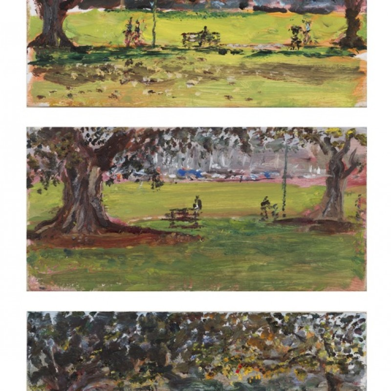 Under the figs, Rushcutters Park (triptych)