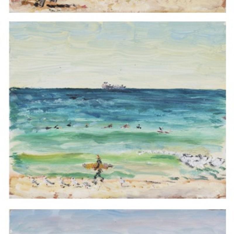 Winter surf, Maroubra (triptych)