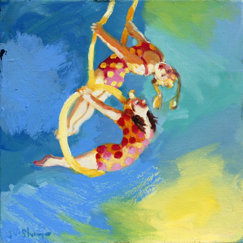 Trapeze Girls with Spots