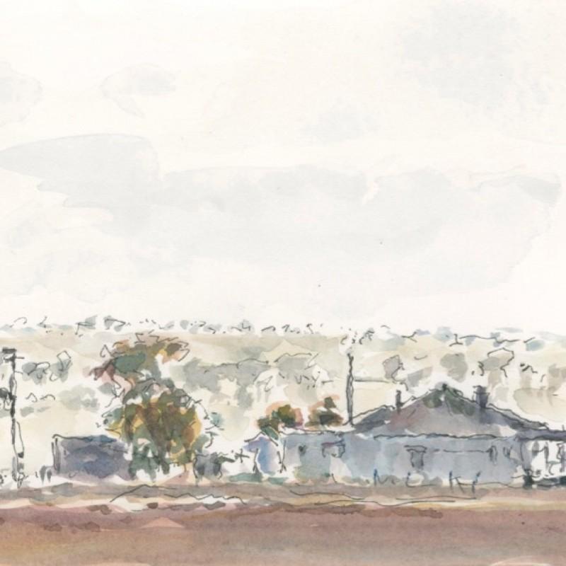 Winter morning, Farmhouse near Young