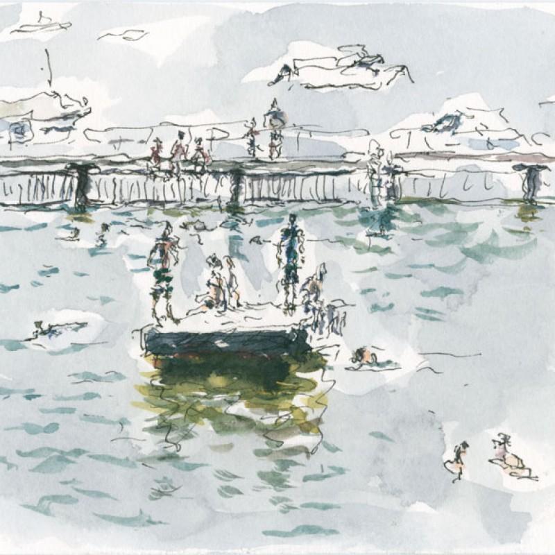 [Detail] Redleaf pontoon triptych