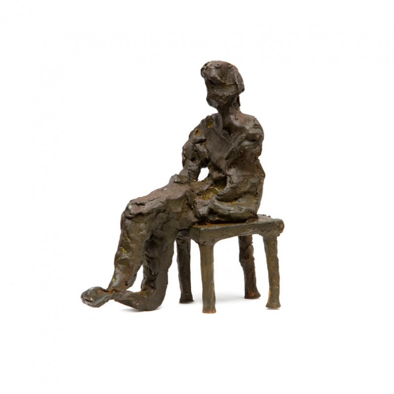 Figure with chair