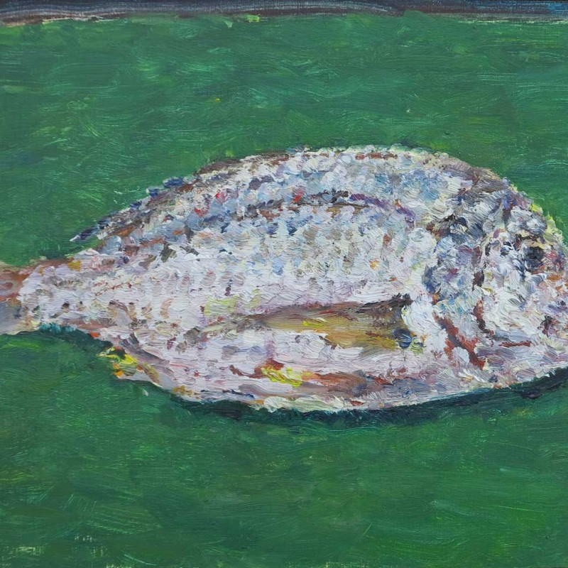 Snapper on green