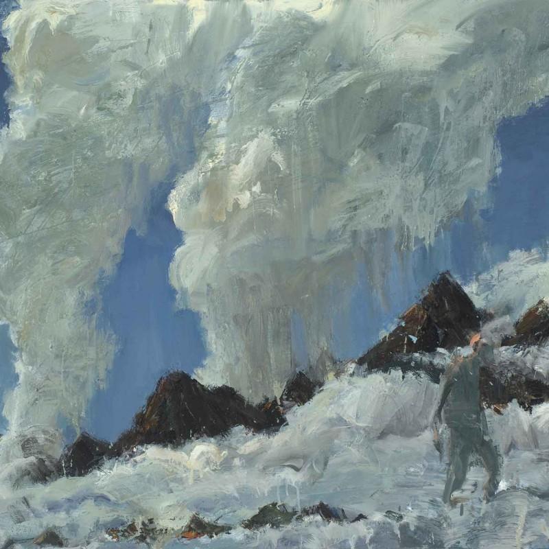 Figure in cloudscape