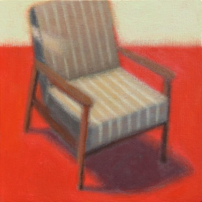 Green striped chair
