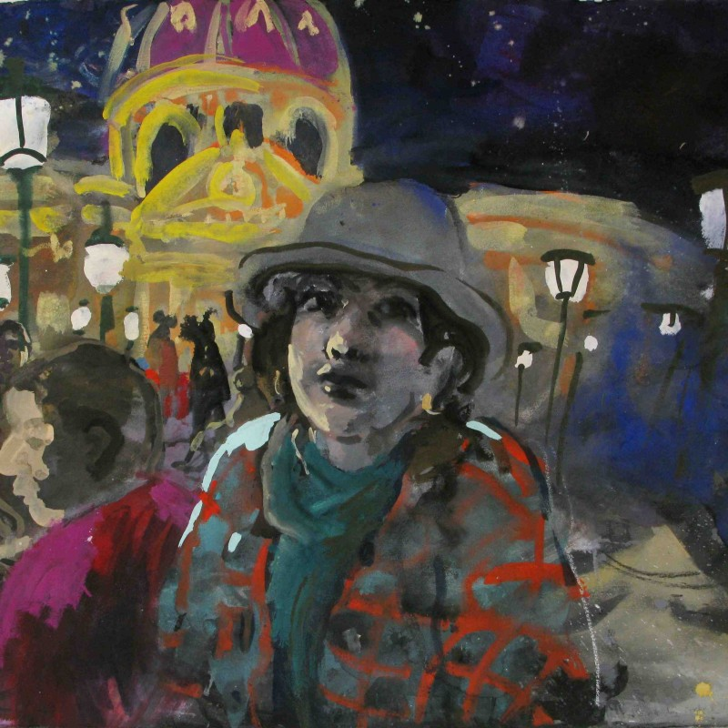 Pont des Arts at Night (self Portrait in Paris)