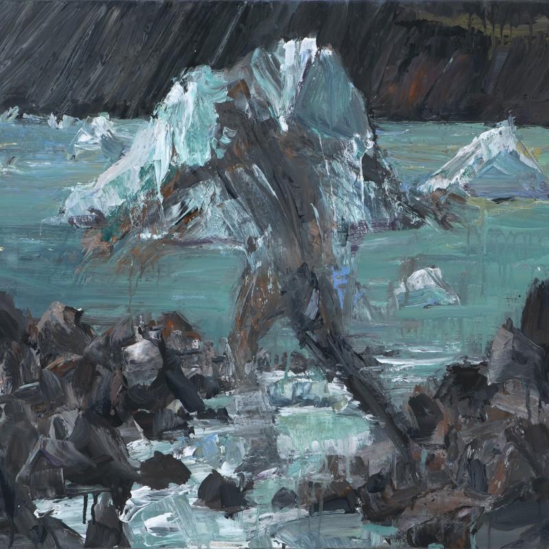 Jumping glacial stream