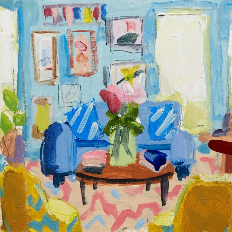 Blue interior study