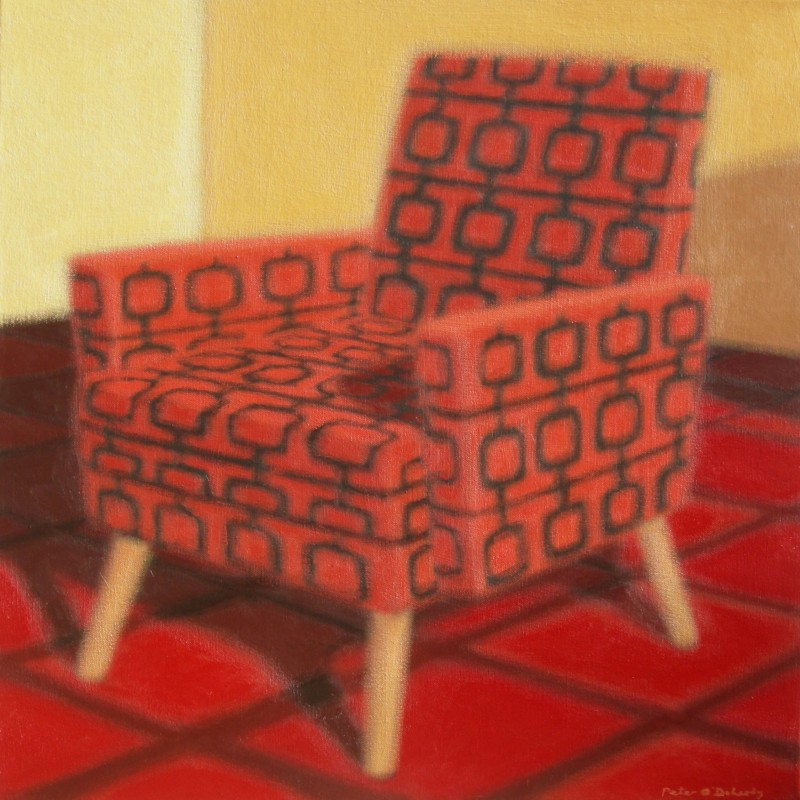 Red Pattern Chair
