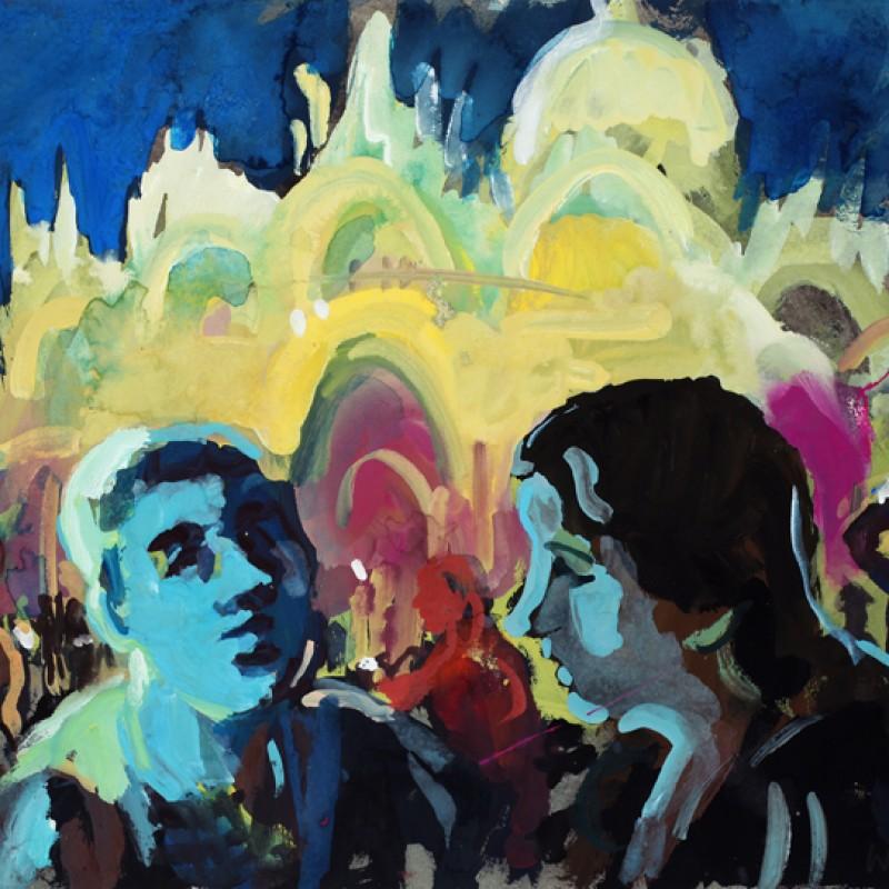 Piazza San Marco Blue Faces