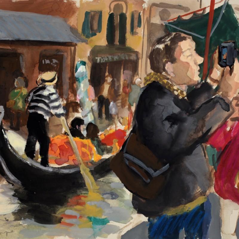 Tourists and Gondolas