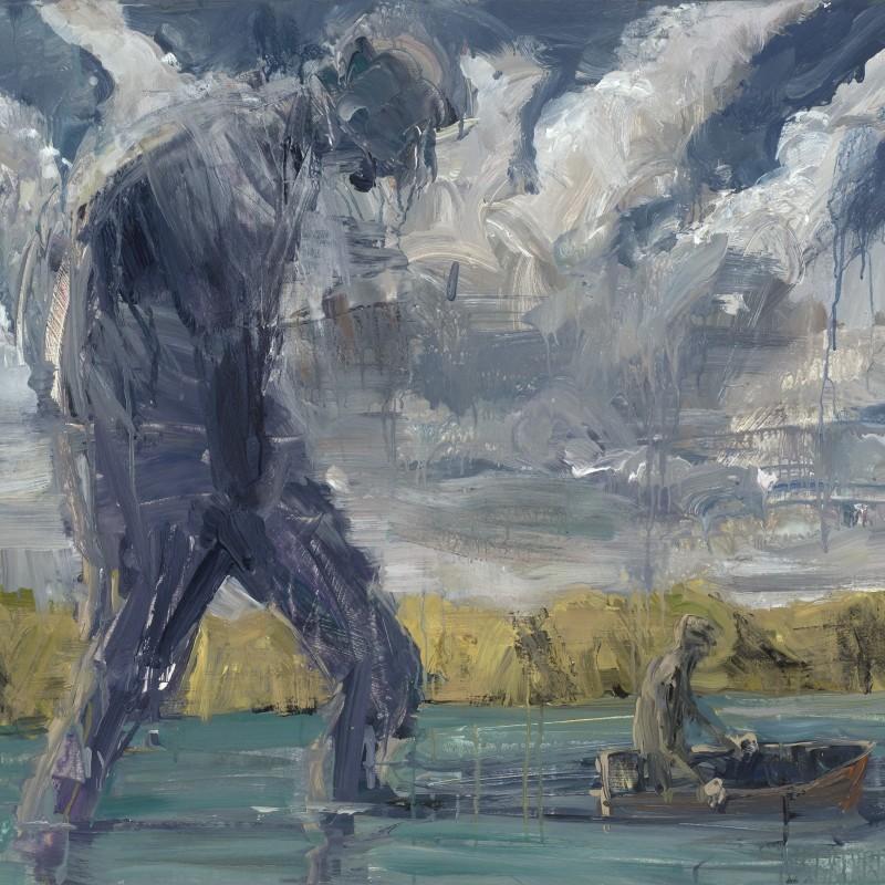 Figure in clouds & figure in boat