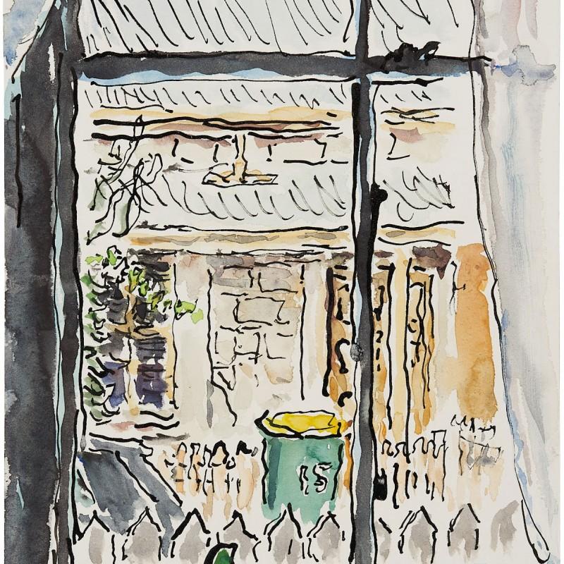 Wheelie Bin, out the Front Window, Murrays Lane