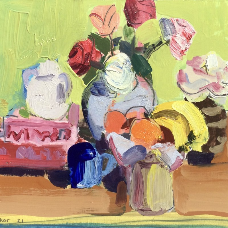 Roses and Fruit Bowl