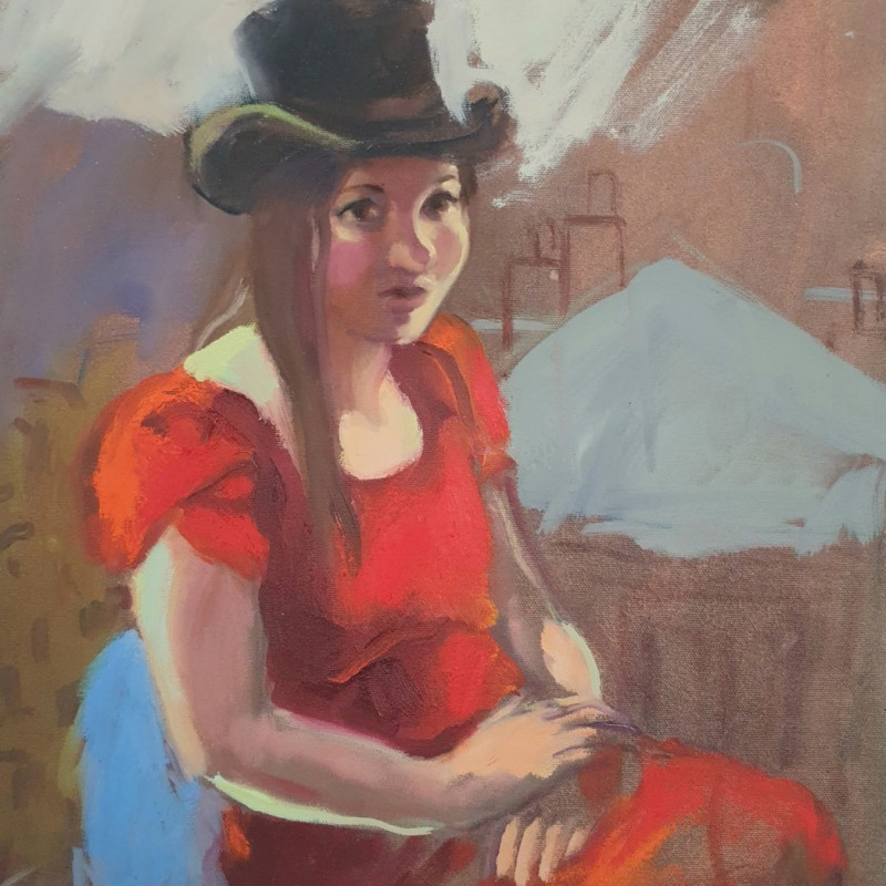 Faustine in Red